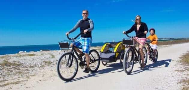 fietstocht met kinderen