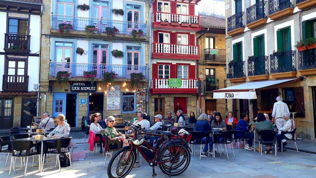 Aankomst in Hondarribia Spanje
