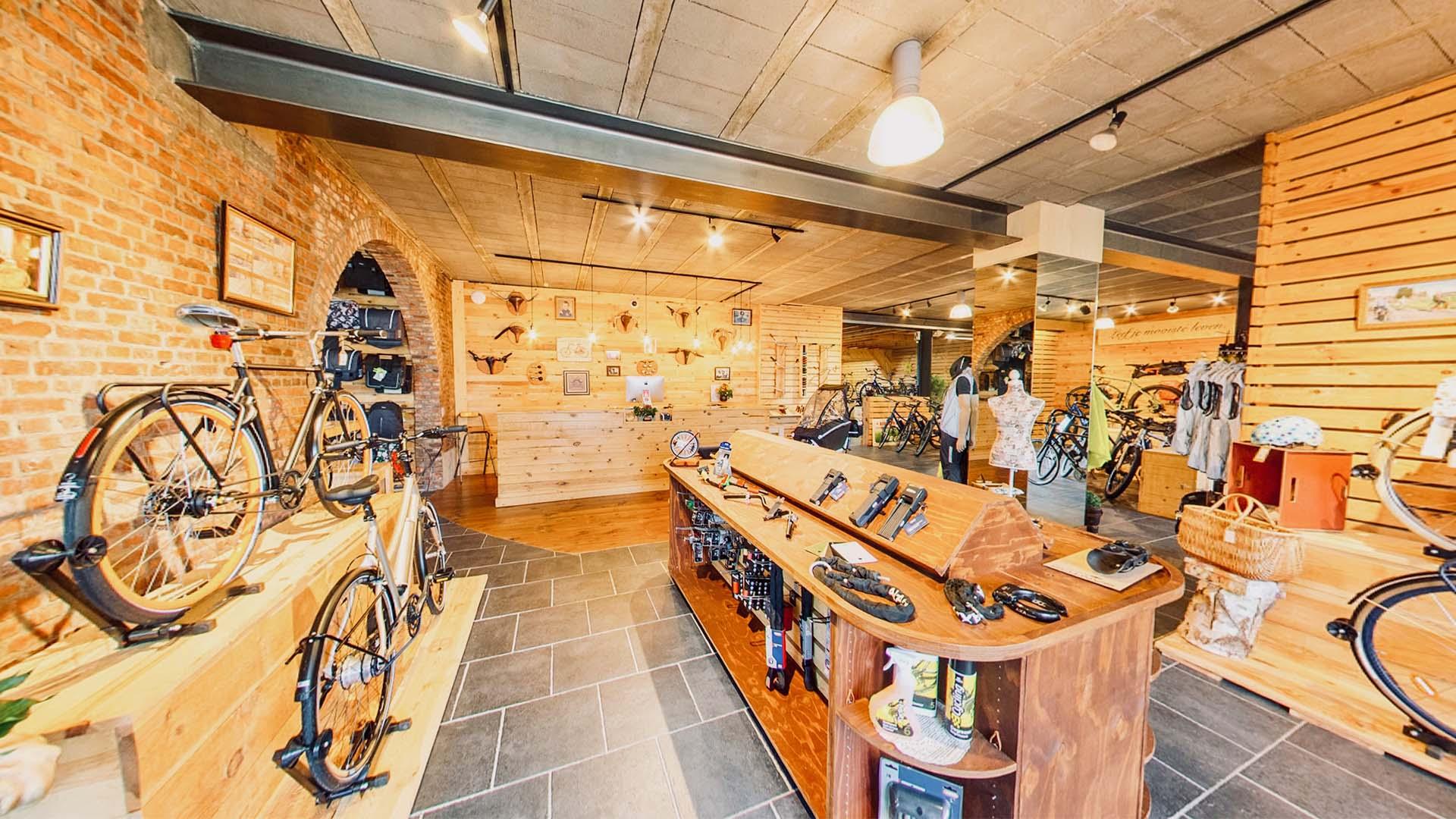 Interieur van fietsen jurgen